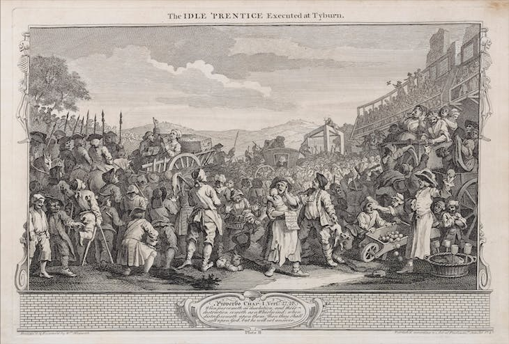 Industry and Idleness, 11: The Idle Prentice Executed at Tyburn