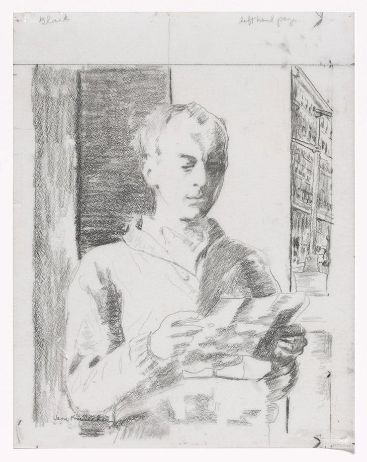 Preparatory drawing for In Memory of My Feelings (1967), Jane Freilicher. The Museum of Modern Art, New York