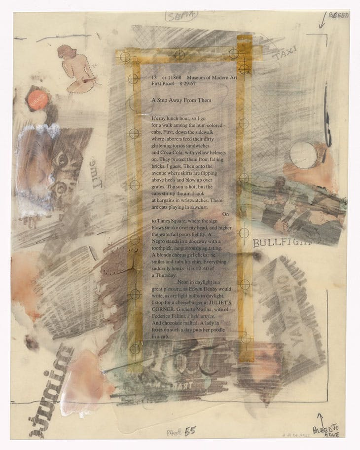 Preparatory drawing for In Memory of My Feelings (1967), Robert Rauschenberg. The Museum of Modern Art, New York.