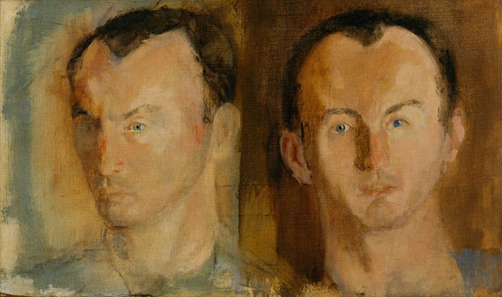 Double Portrait of Frank O'Hara (1955), Larry Rivers. The Museum of Modern Art, New York.