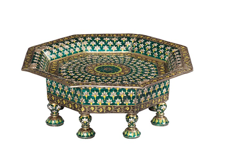 Octagonal tray (early 18th century), norther India (Mughal). Simon Ray