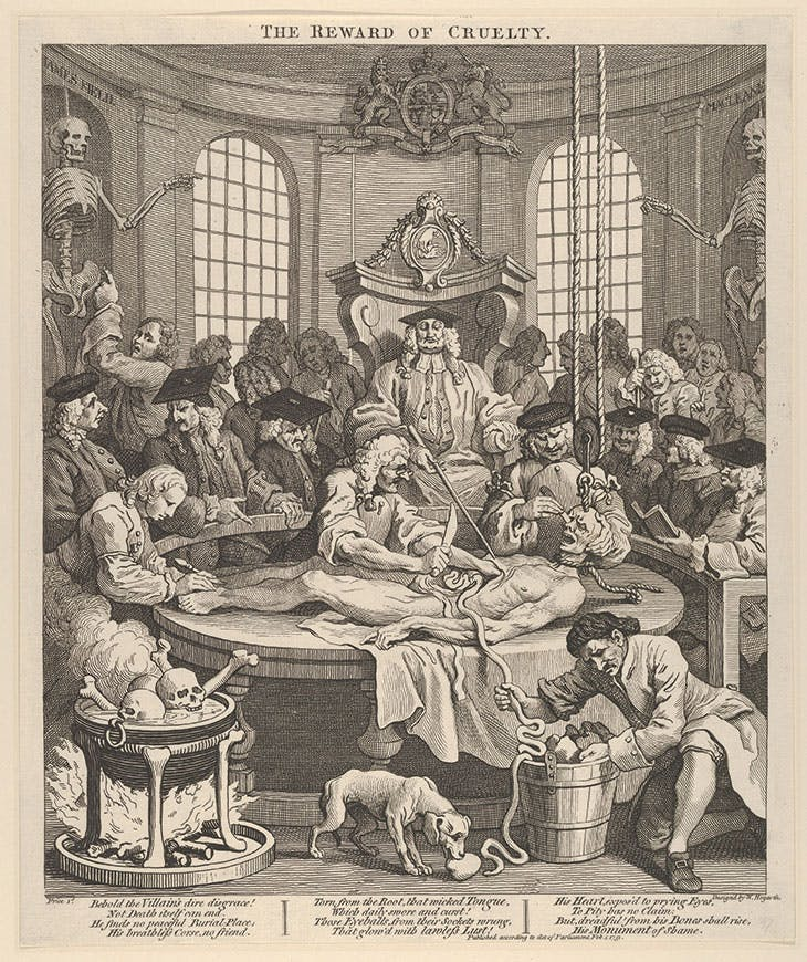 The Four Stages of Cruelty, 4: The Reward of Cruelty (1751), William Hogarth. Metropolitan Museum of Art, New York