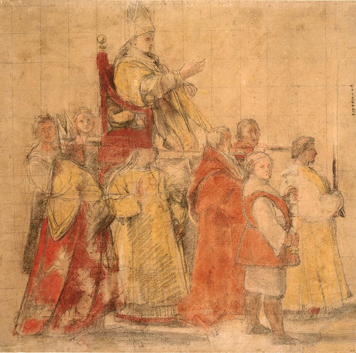 Procession of Pope Sylvester I (c. 1516-1517), Raphael.