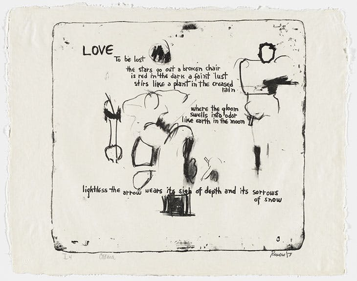 Love (1957), Larry Rivers. Lithograph from Stones (Universal Limited Art Editions, 1960). Museum of Modern Art, New York.