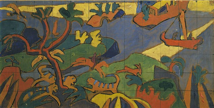 Study for a mural decoration for the Cave of the Golden Calf, London (1912), Spencer Gore. Tate, London