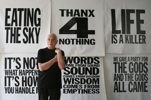 John Giorno (1936–2019) in New York in 2012.