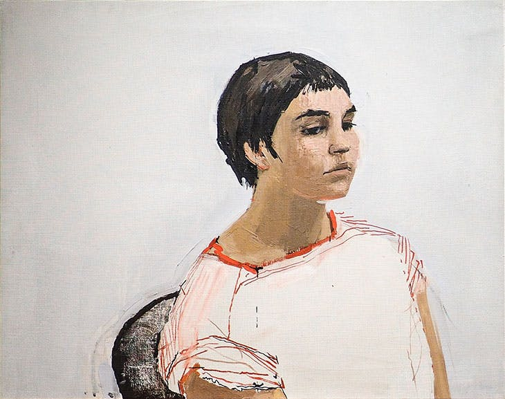 Head of a Girl (Paula Rego) (1954), Victor Willing.