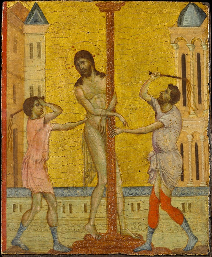 The Flagellation of Christ (c. 1280), Cimabue. The Frick Collection, New York