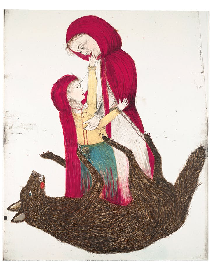 Born (2002), Kiki Smith. Courtesy Scala/Art Resource, New York; © Kiki Smith