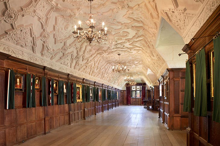 The long gallery at Hever Castle