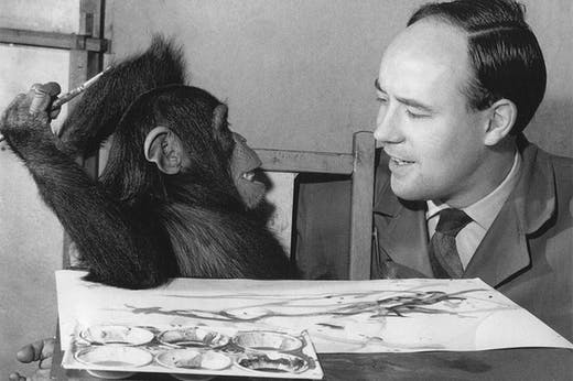 Congo with Desmond Morris in 1957.