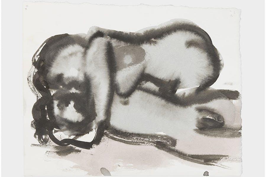 The embrace (2015–16), Marlene Dumas, in Venus & Adonis (2019; David Zwirner Books).