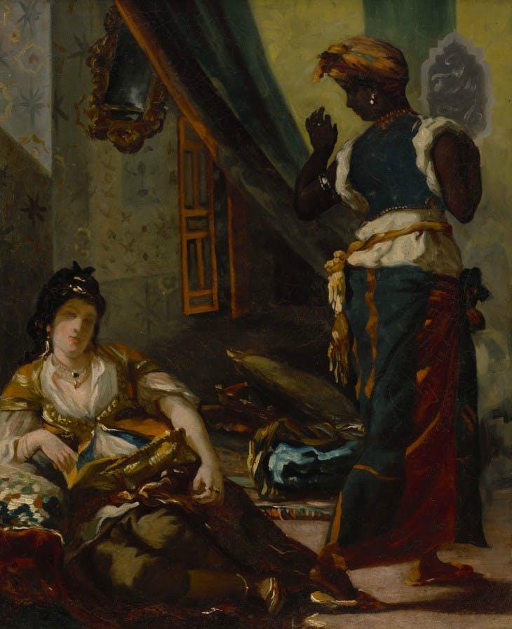 Women of Algiers in Their Apartment (1833–34), Eugène Delacroix.
