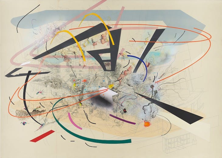 Untitled 2 (2001), Julie Mehretu.