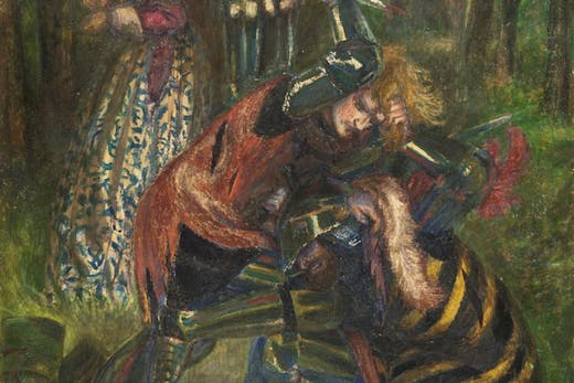 The Death of Breuse sans Pitié (detail; 1857; retouched 1865), Dante Gabriel Rossetti.