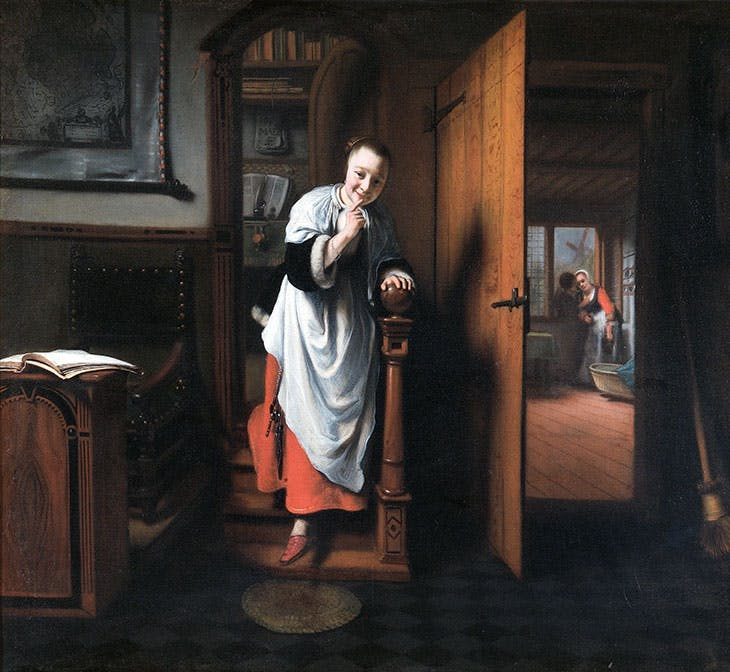 The Eavesdropper (c. 1656), Nicolaes Maes. The Wellington Collection, Apsley House (English Heritage), London