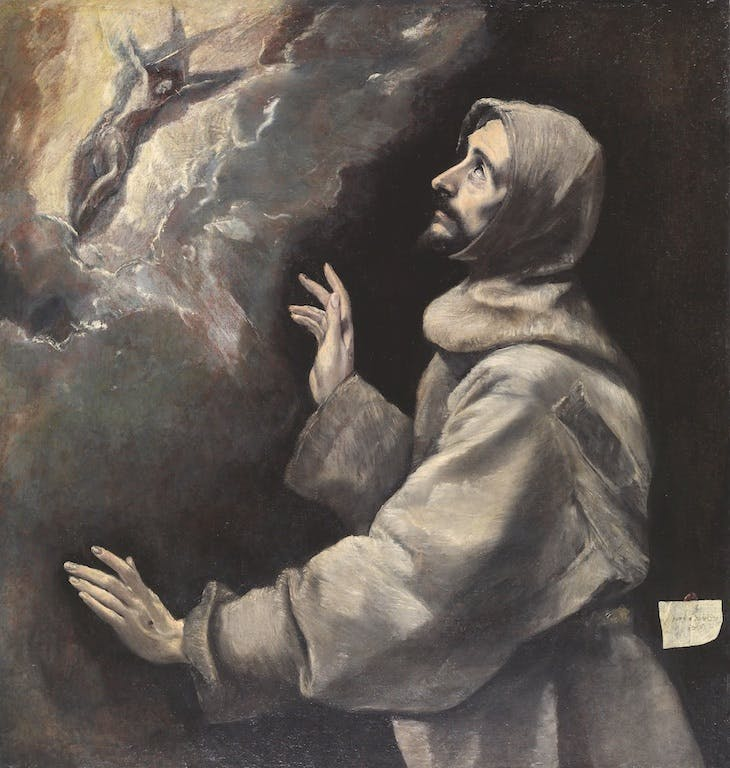 Saint Francis Receiving the Stigmata (c. 1585), El Greco.