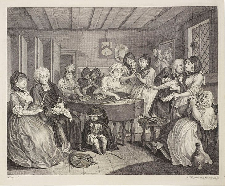 A Harlot's Progress, 6 (1732), William Hogarth.