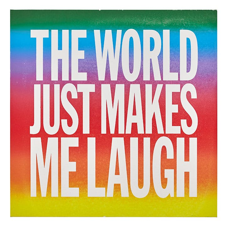 THE WORLD JUST MAKES ME LAUGH (2015), John Giorno.