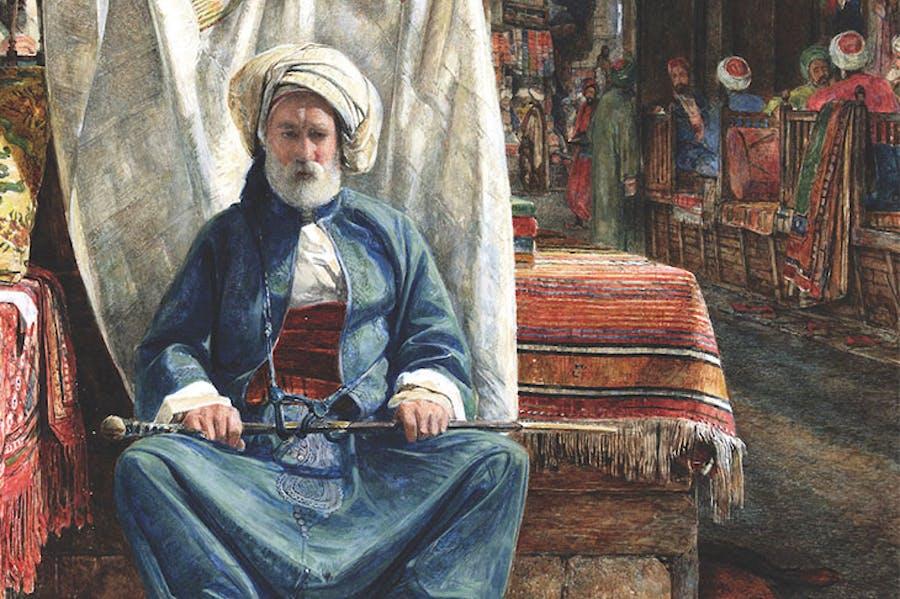 In the Bezestein, El Khan Khalil, Cairo (1860), John Frederick Lewis. Blackburn Museum and Art Gallery