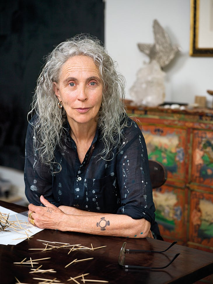 Kiki Smith photographed in her studio in upstate New York in August 2019. Photo: © Nina Subin