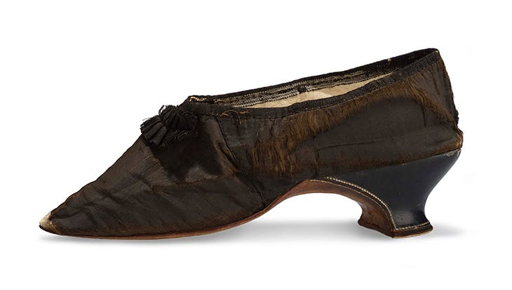 Shoe belonging to Marie-Antoinette (1792).
