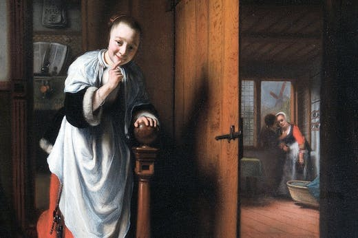 The Eavesdropper (detail; c. 1656), Nicolaes Maes. The Wellington Collection, Apsley House (English Heritage), London