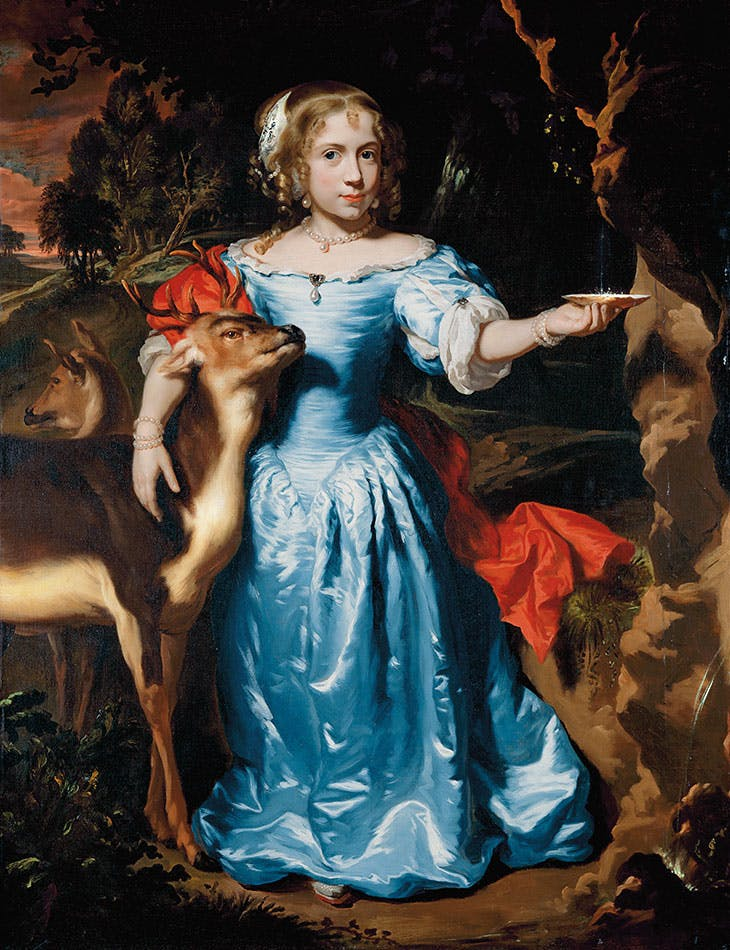 Portrait of a Girl with a Deer (c. 1671), Nicolaes Maes