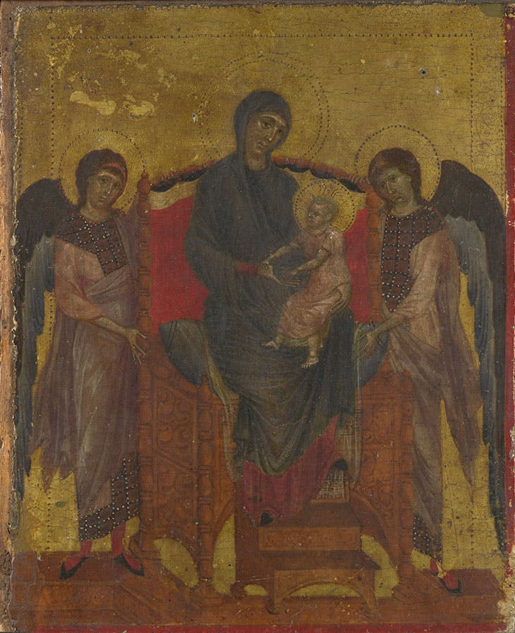 The Virgin and Child with Two Angels (c. 1280–85), Cimabue.