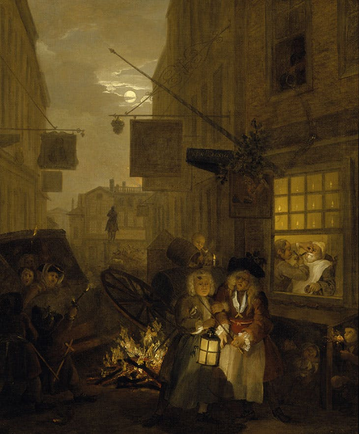 The Four Times of Day: Night (1736–37), William Hogarth.