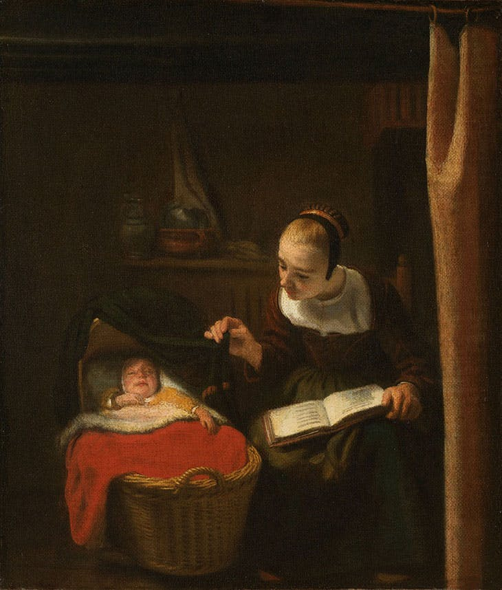 Young Woman at a Cradle (1653–55), Nicolaes Maes. Rijksmuseum, Amsterdam