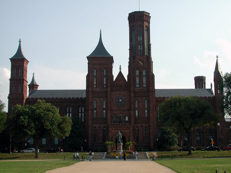 Smithsonian Institution Building, 'The Castle', on the National Mall in Washington, D.C.