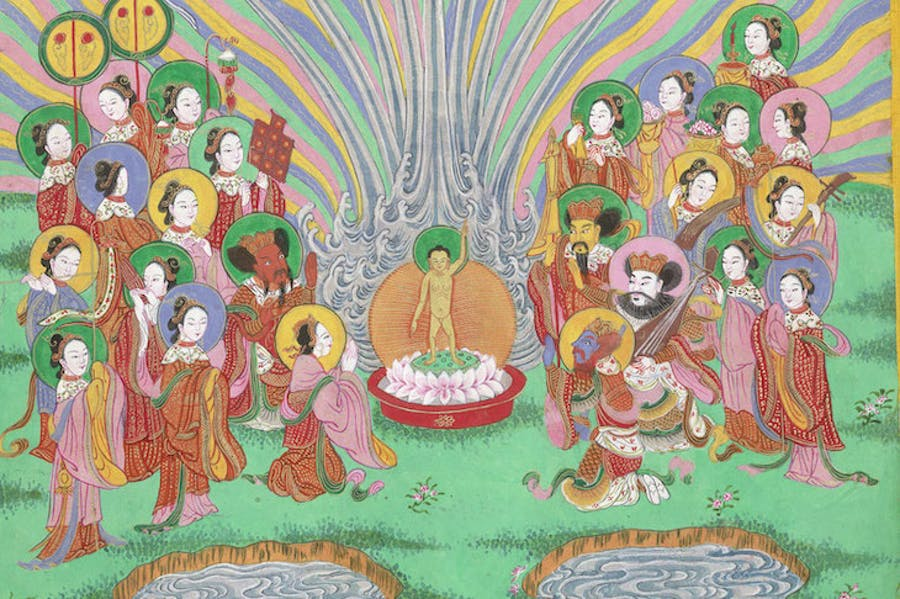 Scene from The Life of Buddha (detail)