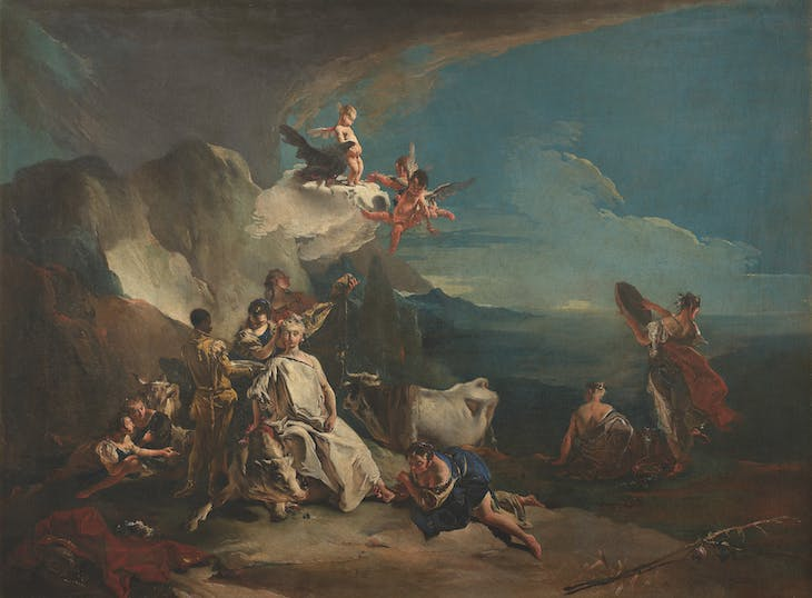 Rape of Europe (c. 1720–23), Giovanni Battista Tiepolo.