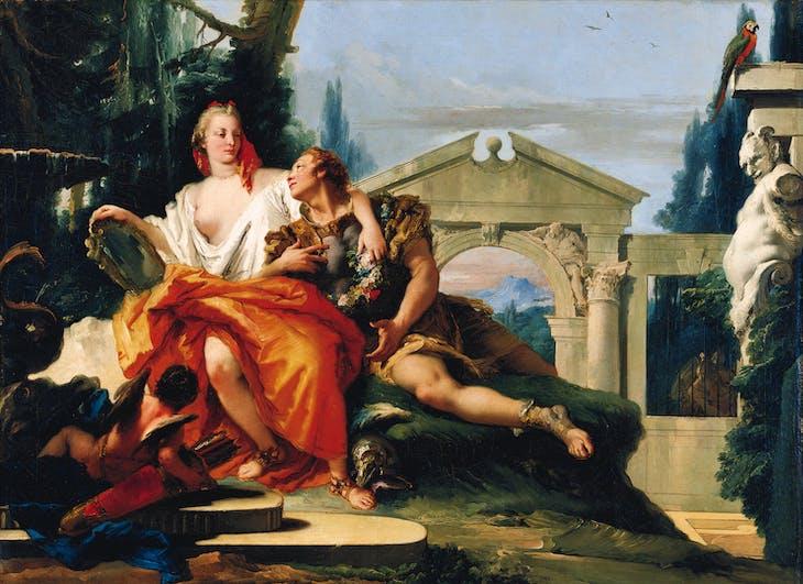 Rinaldo and Armida in the magic garden (c. 1752), Giovanni Battista Tiepolo.