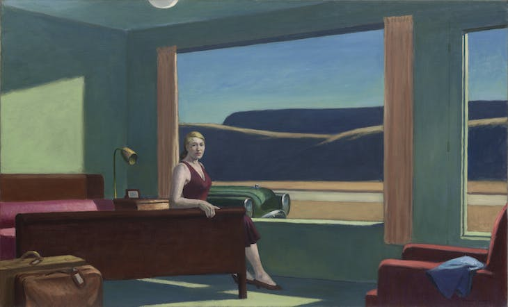 Western Motel (1957), Edward Hopper.