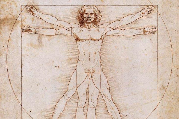 Vitruvian Man, Leonardo da Vinci, c. 1490, Gallerie dell'Accademia
