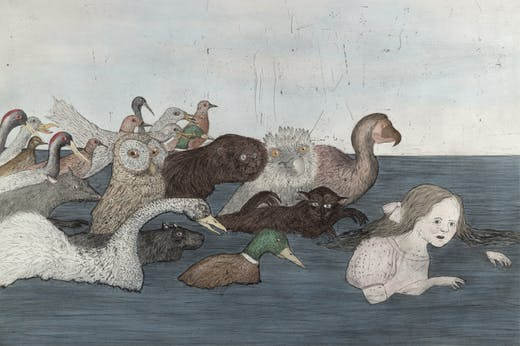 Pool of Tears II (2000), Kiki Smith.