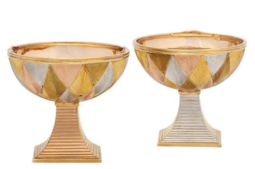 Double marriage cup (c. 1890), Michael Perchin for Fabergé. A La Vieille Russie (price on application)