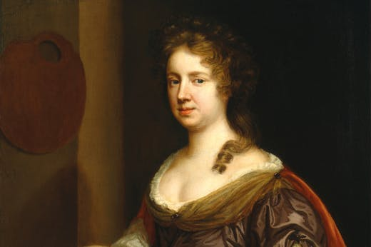 Self-portrait (detail; c. 1666), Mary Beale.