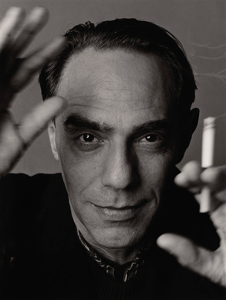 Derek Jarman (1942–94), photographed by Trevor Leighton in 1990. Courtesy National Portrait Gallery, London; © Trevor Leighton
