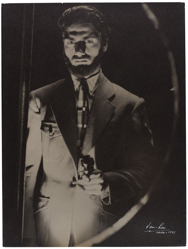 Self-portrait (1942), Van Leo. Van Leo Collection at the Arab Image Foundation, Beirut