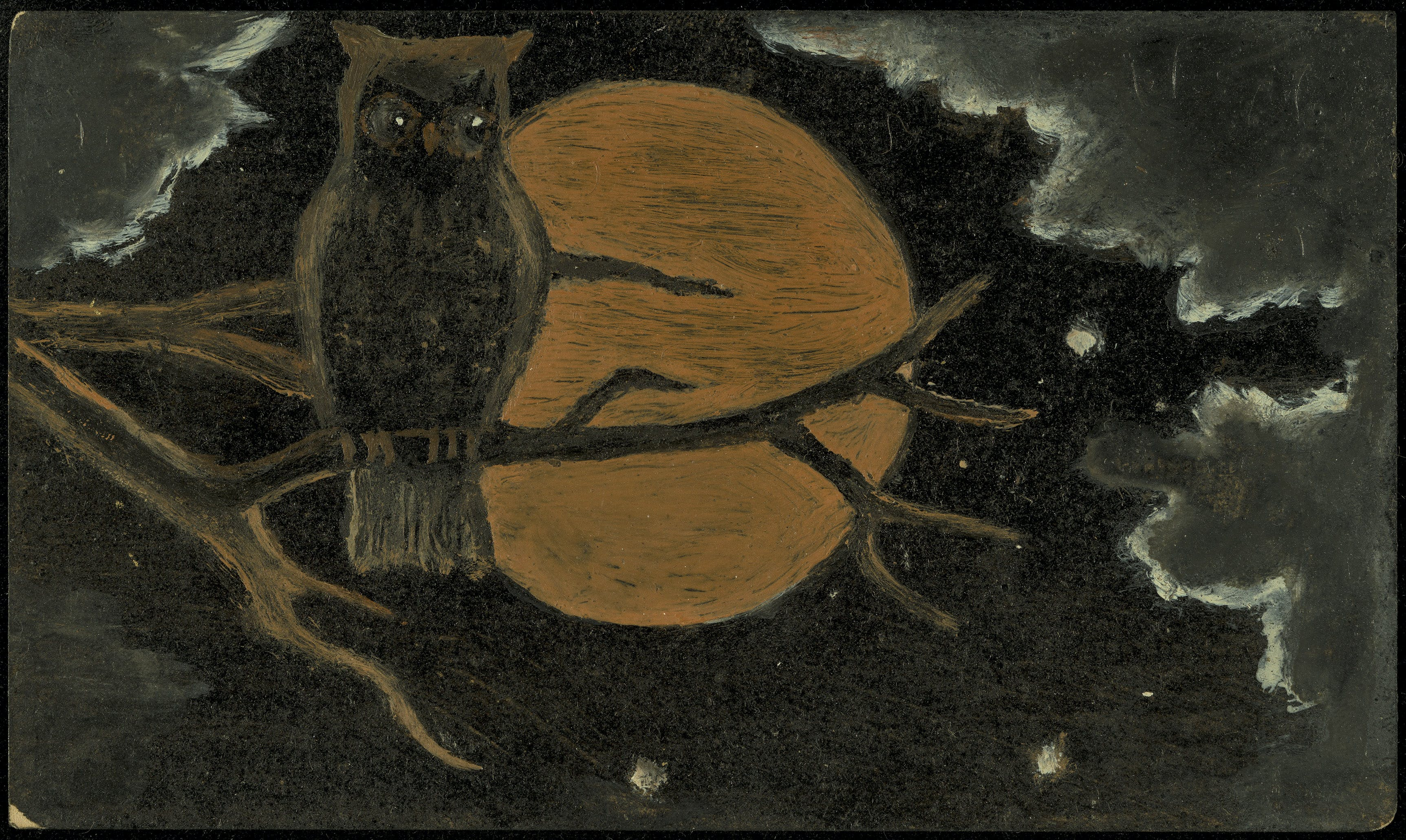 Owl by Moonlight (early 20th century). Museum of Fine Arts, Boston
