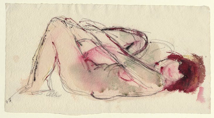 Untitled (Lying female nude) (undated), Jussuf Abbo.
