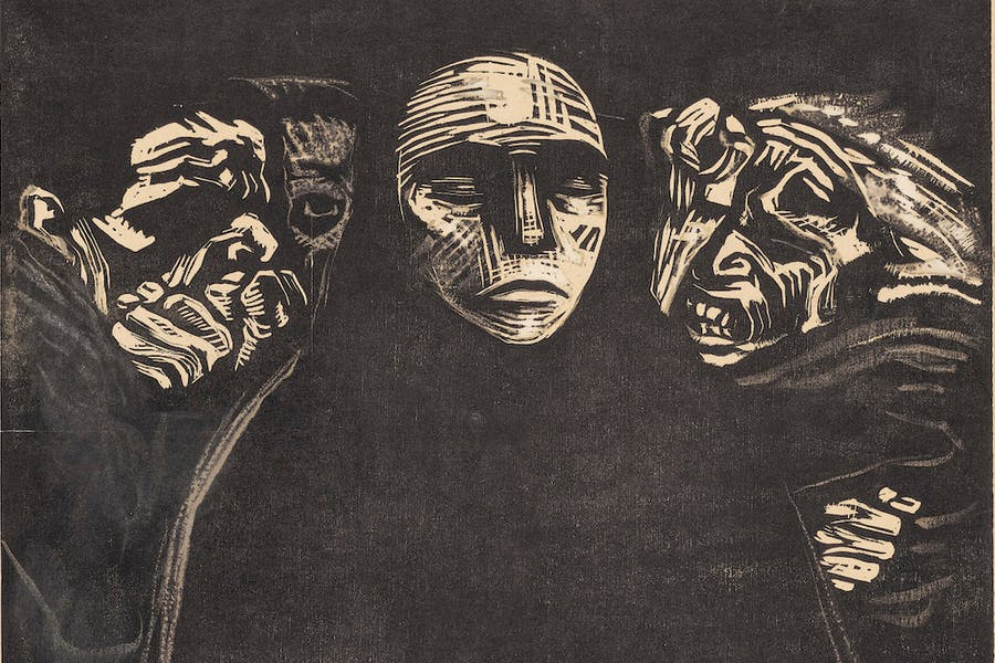 The People (detail; 1922), Käthe Kollwitz.