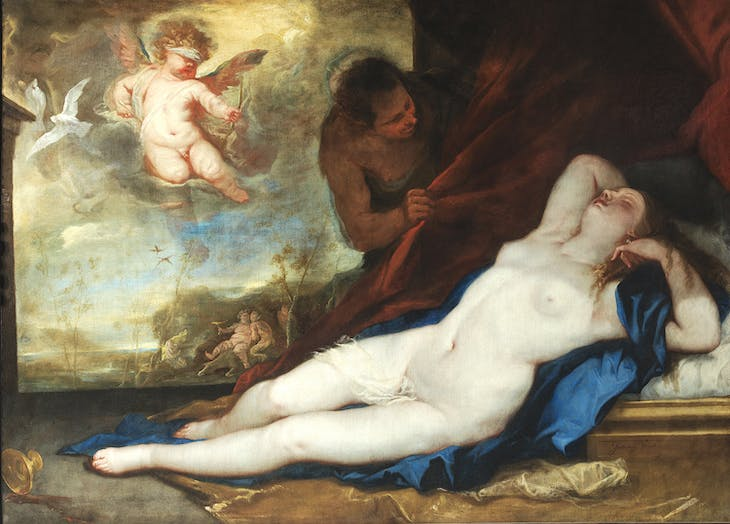 Sleeping Venus with Cupid and Satyr (c. 1670), Luca Giordano