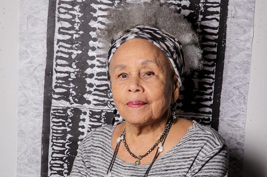 Betye Saar (b. 1926), photographed in her studio in Los Angeles in 2019.