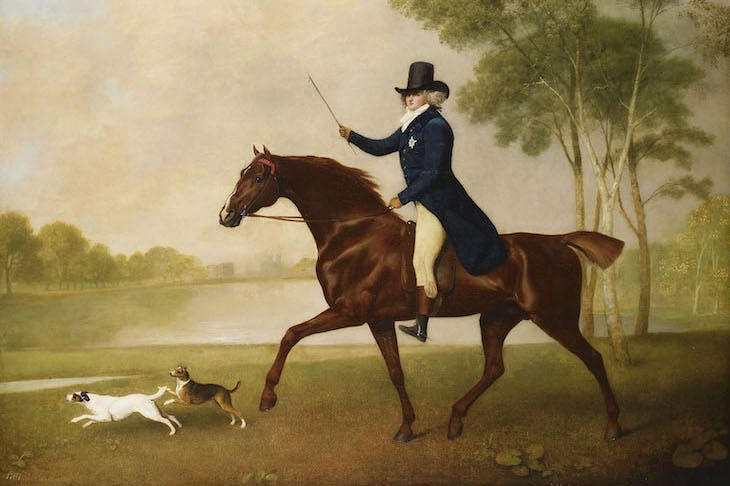George IV (1762-1830) when Prince of Wales (detail; 1791), George Stubbs.