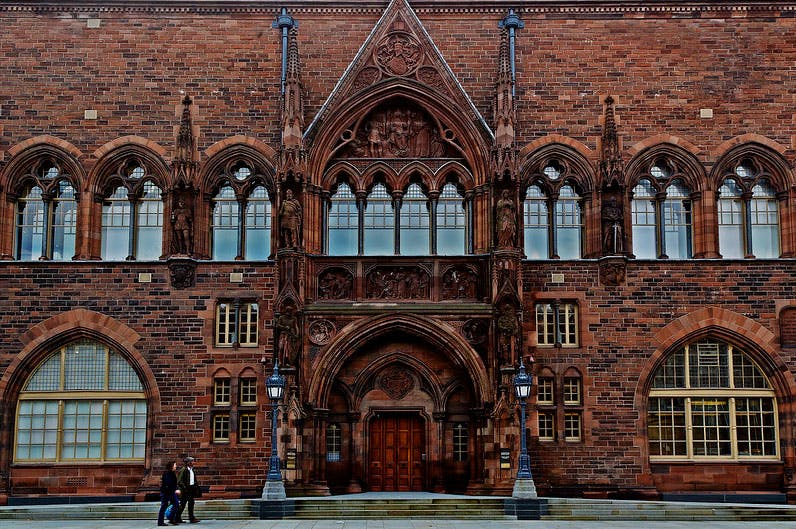 The Scottish National Portrait Gallery in Edinburgh, photographed in 2011.