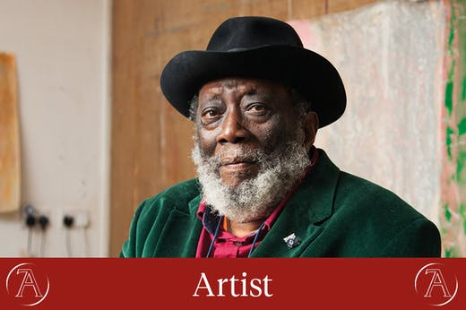Frank Bowling, photographed in his studio in London for Apollo in April 2017. Photo: © Alastair Levy